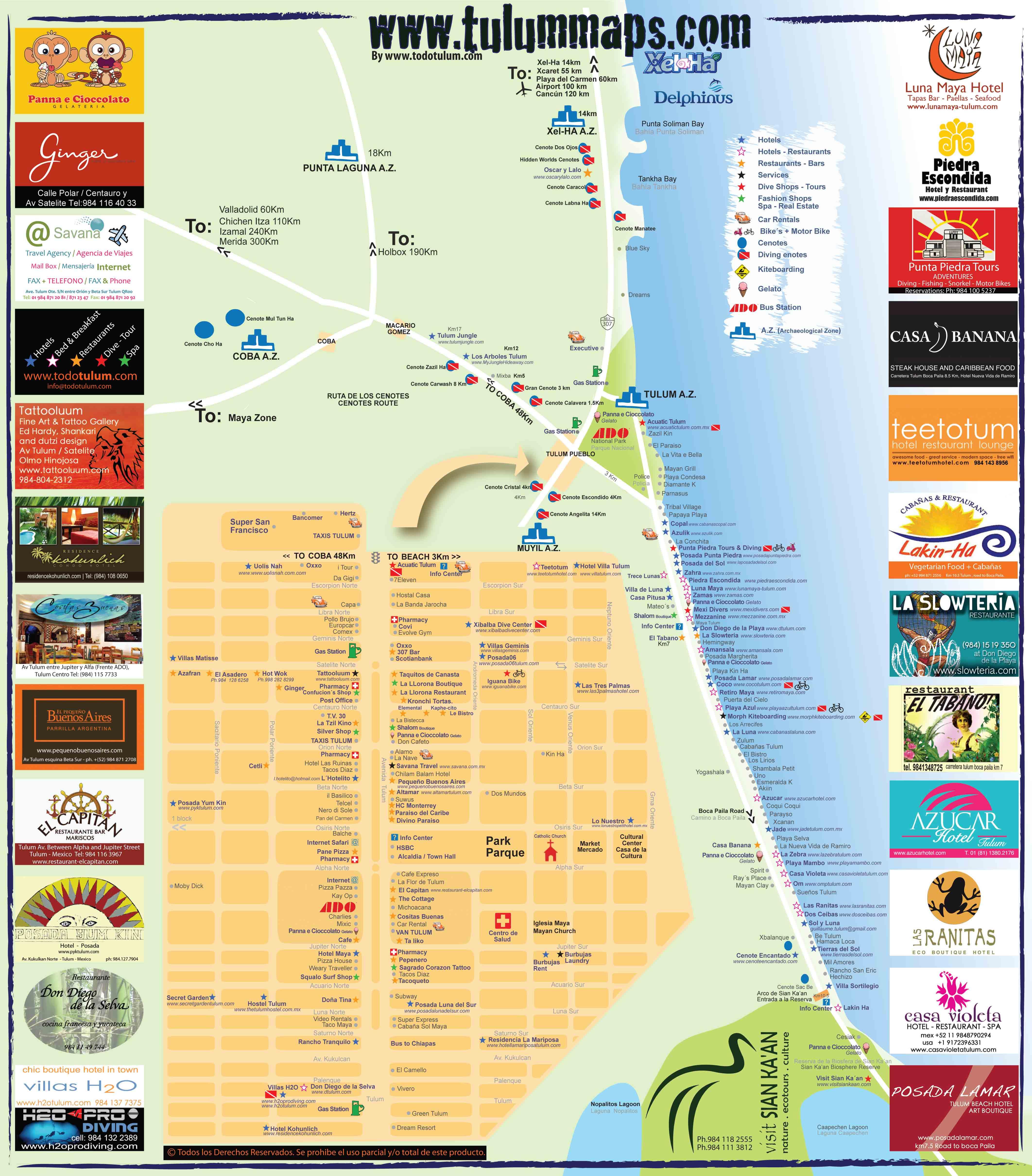 tulum map